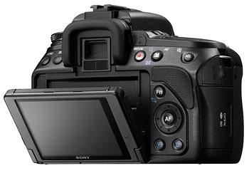 Foto der Rückseite der alpha 560 von Sony