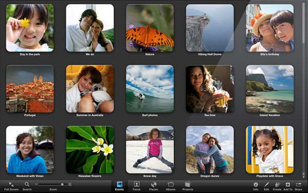 Screen iPhoto