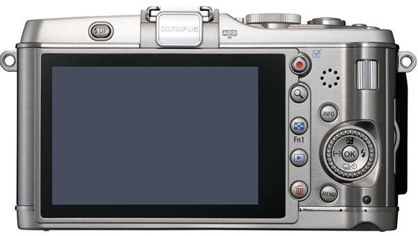 Foto der Rückseite der PEN E-P3 von Olympus