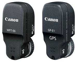 Foto vom W-LAN-Modul WFT-E6 und GPS-Modul GP-E1
