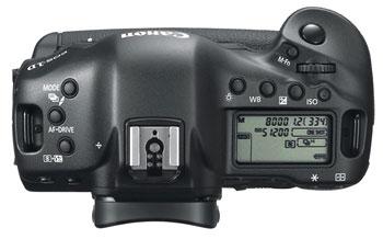 Foto der Oberseite der EOS-1D X