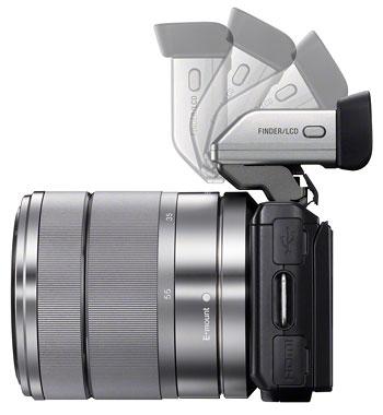 Foto vom Aufsteck-Sucher FDA-EV1S an NEX-5N von Sony