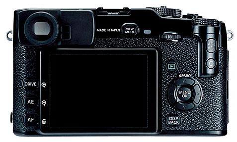 Foto der Rückseite der X-Pro1 von Fujifilm