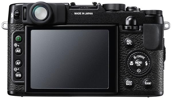 Foto der Rückseite der FinePix X10 von Fujifilm