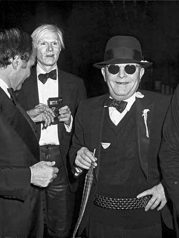 Foto Ron Galella: Lester Persky, Andy Warhol and Truman Capote, New York, December 1978
