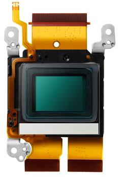 Foto vom Bildsensor der G3 samt Ultraschall-Vibrationssystem