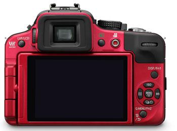 Foto der Rückseite der Lumix DMC-G3 von Panasonic