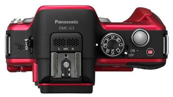 Foto der Oberseite der Lumix DMC-G3 von Panasonic