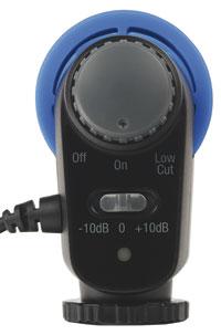 Foto der Rückseite vom Richtmikrofon MK 100 von Hähnel