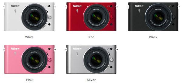 Farbvarianten der Nikon 1 J1