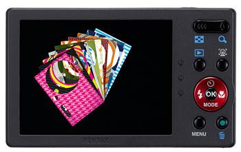 Foto der Rückseite der Optio RS1500 von Pentax
