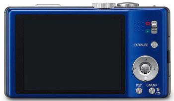 Foto der Rückseite der Lumix TZ22 von Panasonic