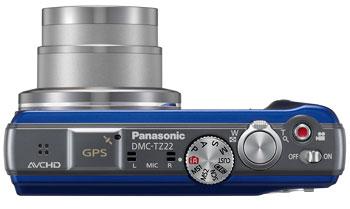 Foto der Oberseite der Lumix TZ22 von Panasonic
