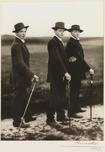 Foto August Sander: Jungbauern, 1914