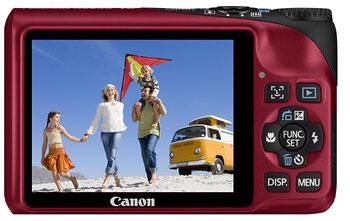Foto der Rückseite der PowerShot A2200 von Canon