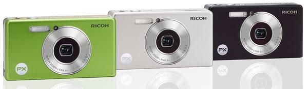 Foto der Farbverianten der PX von Ricoh