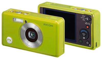 Foto der Front- und  Rückseite der PX von Ricoh