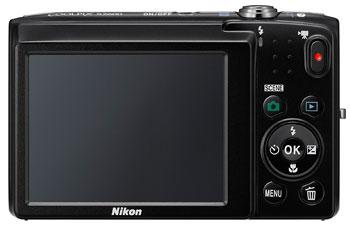 Foto der Rückseite der Coolpix S2600 von Nikon