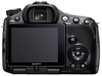 Foto der Rückseite der SLT-A65 von Sony