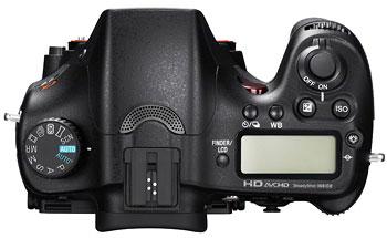 Foto der Oberseite der SLT-A77 von Sony