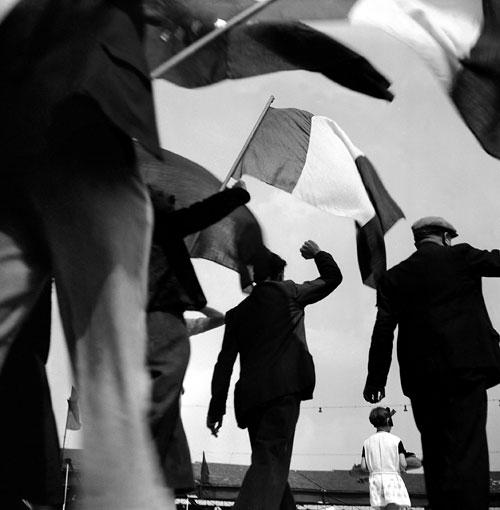 Foto Ré Soupault: Streikende, Paris 1936