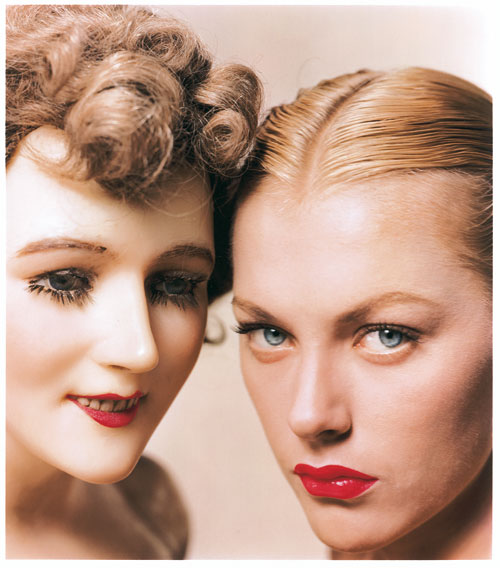 Foto Erwin Blumenfeld, Model and Mannequin, New York, November 1945