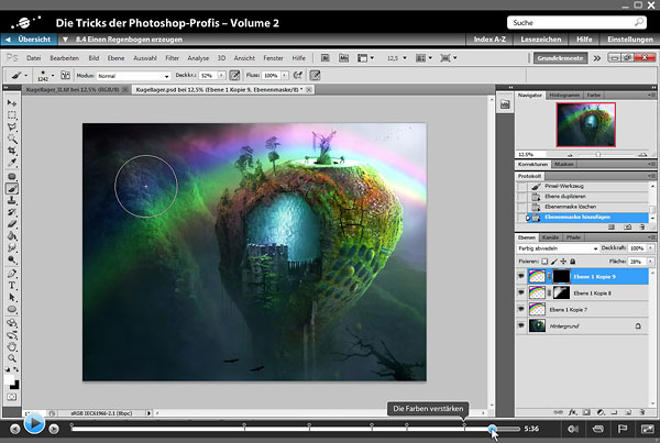 Screenshot: Die Tricks der Photoshop-Profis – Volume 2