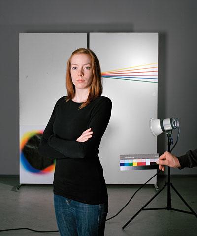 """Foto Katrin Kamrau, FH Bielefeld; aus der fotografischen Installation """"Spektrum"""""""
