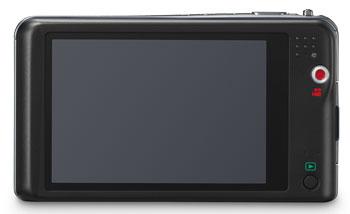 Foto der Rückseite der Lumix FX80 von Panasonic