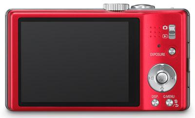 Foto der Rückseite der Lumix TZ25 von Panasonic