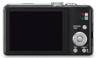 Foto der Rückseite der Lumix TZ31 von Panasonic