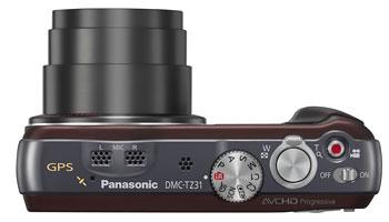 Foto der Oberseite der Lumix TZ31 von Panasonic