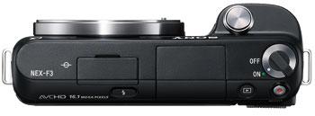 Foto der Oberseite der NEX-F3 von Sony