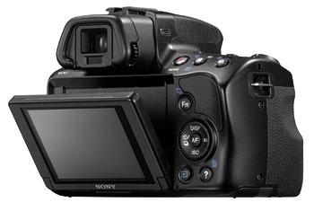 Foto der Rückseite der SLT-A37 von Sony