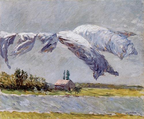 Gustave Caillebotte, Trocknende Wäsche, Petit Gennevilliers, 1888