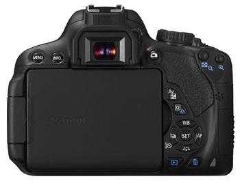 Foto der Rückseite der EOS 650D von Canon