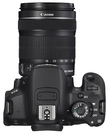 Foto der Oberseite der EOS 650D von Canon