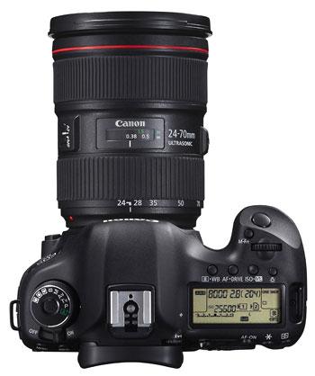 Foto der Oberseite der EOS 5D Mk III von Canon