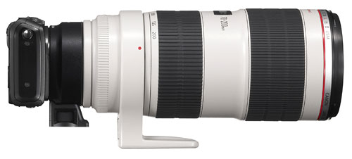 Foto EOS M mit Objektiv-Adapter EF-EOS M