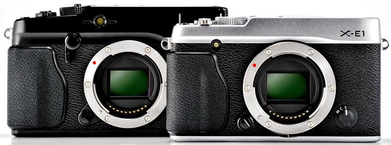 Foto X-E1 und dahinter die X-Pro1
