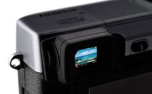 Foto vom Sucher der X-E1 von Fujifilm