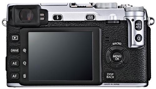 Foto der Rückseite der X-E1 von Fujifilm