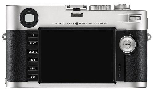 Foto der Rückseite der Leica M