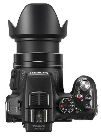 Foto der Oberseite der Lumix FZ200