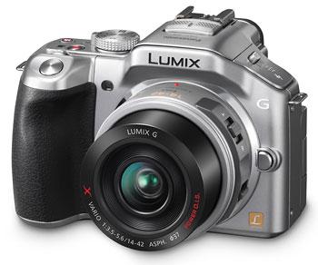 Foto der Lumix G5 in silberfarben