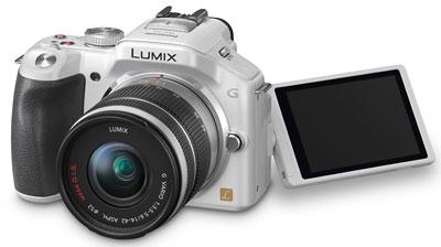 Foto der Lumix G5 in weiß