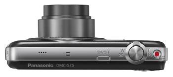 Foto der Oberseite der Lumix SZ5