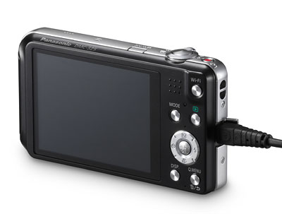 Foto der Rückseite der Lumix SZ5
