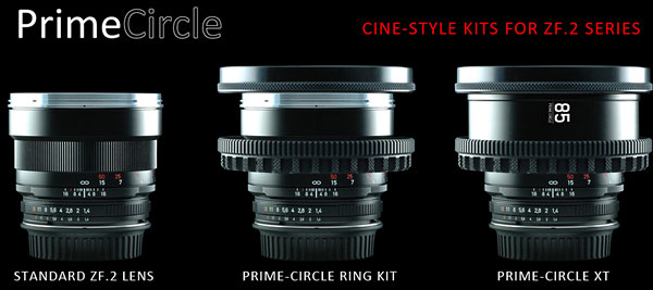 PrimeCircle-RingKits for ZF.2 Series Lenses