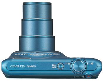 Foto der Oberseite der  Coolpix S6400